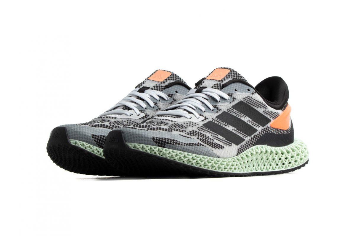 Giày Adidas 4D Run 1.0 tương lai có thân in độc đáo