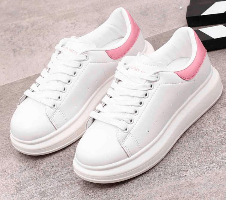 Giày nữ thể thao bata trắng cổ thấp