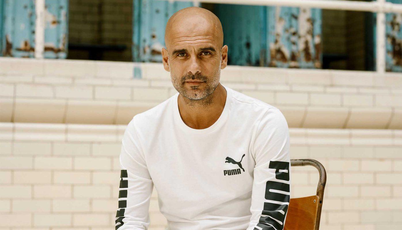 Pep Guardiola người đang là một đại sứ thương hiệu cho Puma.