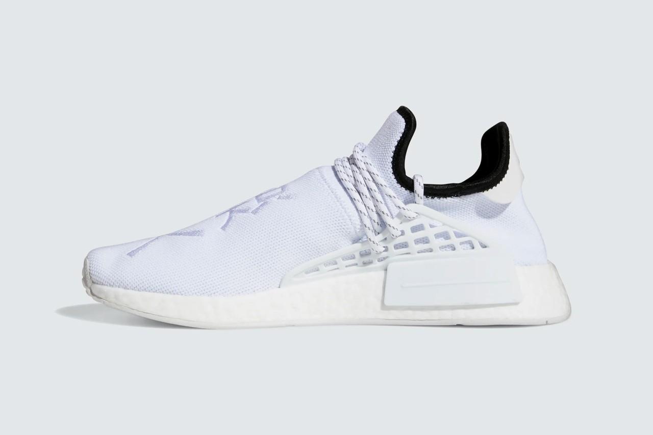 "Pharrell x Adidas NMD Hu ""Core White"""